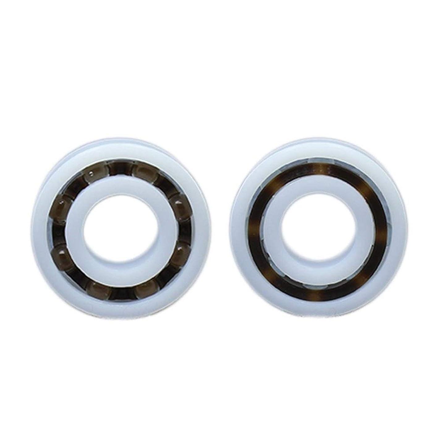 押す周りなに耐久性 POMベアリング6204個の6205 6206 6207 6208 6209 6210個のガラス玉ナイロンケージプラスチックボールベアリング(2 PCS) (Size : POM6209 45x85x19mm)