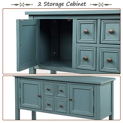 P-PURLOVE-Console-Table-Buffet-Sideboard-Sofa-Table-with-Storage-Drawers-Cabinets-and-Bottom-Shelf