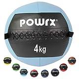 POWRX Wall-Ball Gewichtsball Medizinball Deluxe Professional 2-10 kg | versch. Farben (4...