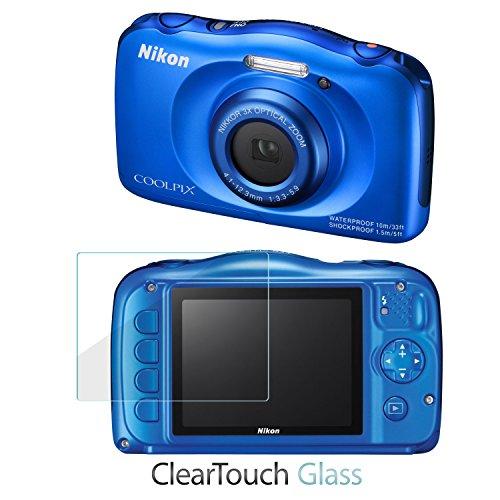Nikon Coolpix S33Protector de pantalla, BoxWave® [ClearTouch cristal] 9H templado cristal Protector de pantalla para Nikon Coolpix S33