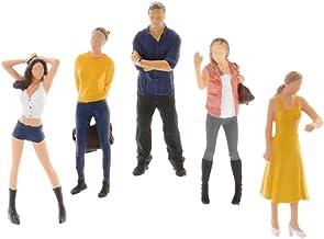 Hellery 5 x 1/64 miniatyrmodellscener små klassiska figurer män kvinnor leksak landskap
