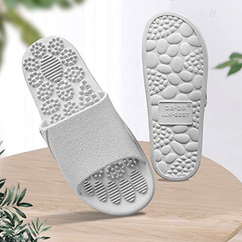 LYJBD - Barstools Haushalts Fuß Akupunktur Punkt Fußmassage Schuhe Paar Badezimmer rutschfeste Innensandalen Und Hausschuhe Sommer Männer Und Frauen Fußmassage Schuhe