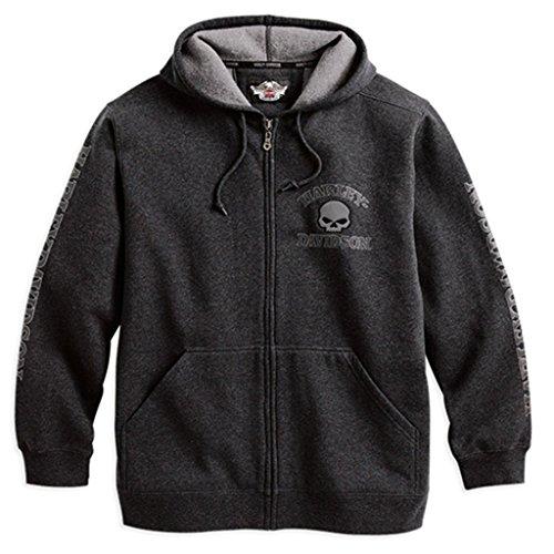 HARLEY-DAVIDSON® Men's Hooded Skull Sweatshirt - 99107-18VM (M)