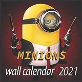 Minions wall calendar 2021: Minions 16 months wall calendar 2021 8.5'x8.53'