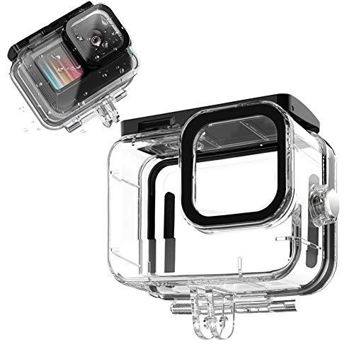 Hifuture Wasserdichtes Gehäuse Für Gopro Hero 9 Kamera Schutzhülle Schale Tauchgehäuse 50m Unterwasser Wasserresistente 95 Lichtdurchlässigkeit HD Transparentes PC Zubehör Für Sport Action Kamera