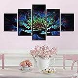 N / A Pintura sin Marco Decoración de Imagen Abstracta de Flores 5 póster de Moda Arte de Pared para habitación de niñasZGQ2021 30x40cmx2, 30x60cmx2, 30x80cmx1