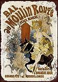 Mr.sign French Moulin Rouge Blechschilder Vintage Metall
