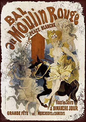 niet Franse Moulin Rouge Metalen tin teken schilderij decoratie Populaire IJzeren Schilderij Poster Voor bar cafe eetkamer huis club