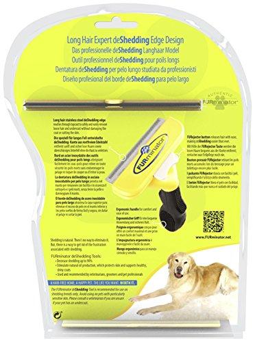 FURminator deShedding Hunde-Pflegewerkzeug zur Fellpflege – Hundebürste in Größe L zur gründlichen Entfernung von Unterwolle und losen Haaren – für langhaarige Hunde - 3