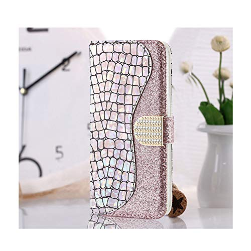 Wallet Case for Apple iPhone 7 Plus 8 Plus Glitter Bling Phone Case with Card Slot Holder PU Leather Flip Folio Case Cover for Girls Boys - Glitter Silver