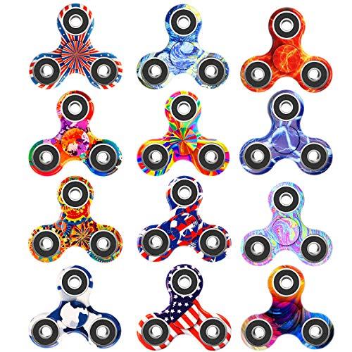 Owen Kyne 12 Pack Fidget Spinner, EDC Hand Tri-Spinner...