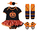 MOMBEBE COSLAND Bambina Ragazze Zucca Halloween Body (Zucca, 9-12 Mesi)