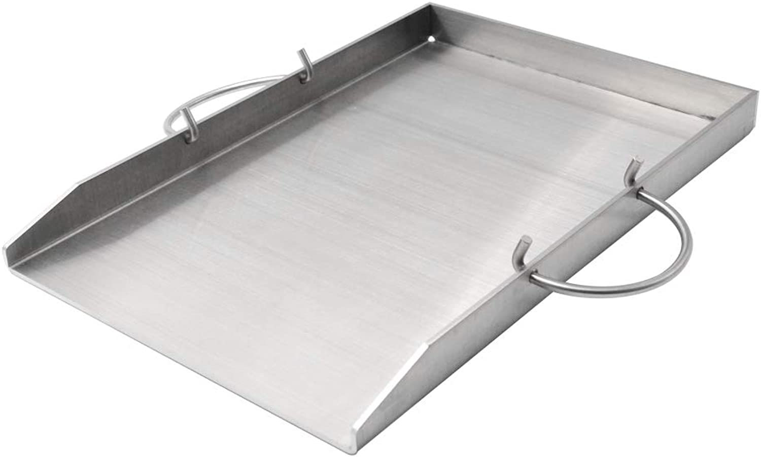 Stanbroil Stainless Steel Griddle Pan with Holder Replacement Weber 7599 Fits Weber Genesis II 300 Series Grills