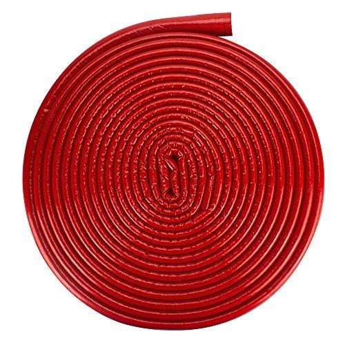 Isolierschlauch Isolierung Heizungsrohre Isolierfolie 22 mm / 6 mm Rot | Rohrisolierung Rohr Schaumstoff Rund Heizungsrohr PE PEX Fußbodenheizung Wasserleitung Zentralheizung