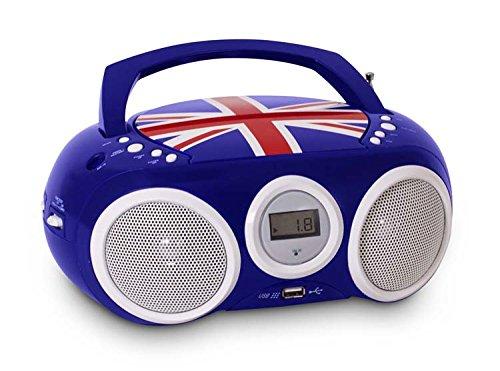 BigBen - AU327410 - draagbare CD/radio CD32 - Union Jack in blauw