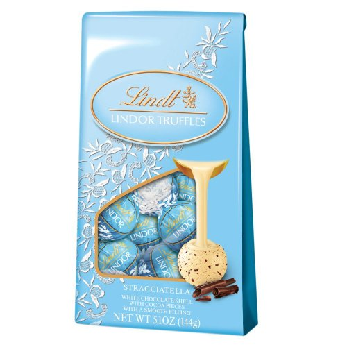 Lindt Lindor Truffles Stracciatella Chocolate (12-count), 5.1-ounce Bags (Pack of 2)