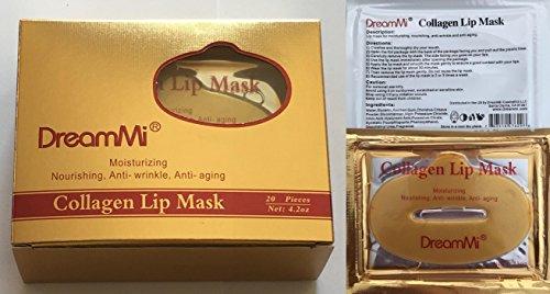 DreamMi 20 Pieces Gold Bio Collagen Gel Lip Pad Pads Mask Masks, Moisturizing, Anti-Wrinkle, Anti-Aging, By DreamMi
