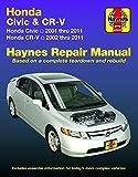 Honda Civic (2001-2011) & CR-V (2002-2011) Haynes Repair Manual (USA)