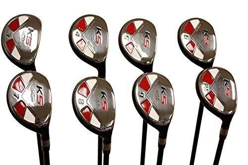 Senior Mens Majek Golf All Hybrid Complete Full Set which Includes #3 4 5 6 7 8 9 PW Senior Flex with Senior Midsize Majek K5s Design High Traction Tech Grips Right Handed Clubs