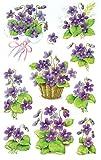 AVERY Zweckform 4317 Deko Sticker Veilchen 30 Aufkleber