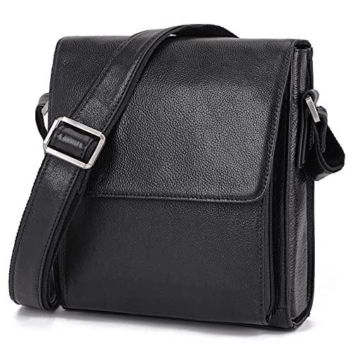 Augus Leather Messenger Shoulder Crossbody Bag for Men ...