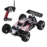 GoolRC WLtoys A959 RC Car, 1:18 Scale 2.4Ghz Remote Control Vehicle Off Road Trucks, 4WD 45KM/H High Speed Racing Buggy Car RTR for Kids, Red