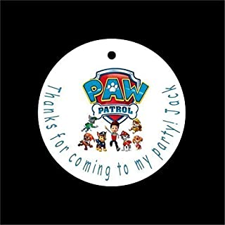 Set of 10 Paw Patrol Birthday Favor Tags/Party Tags - All Wording Customized