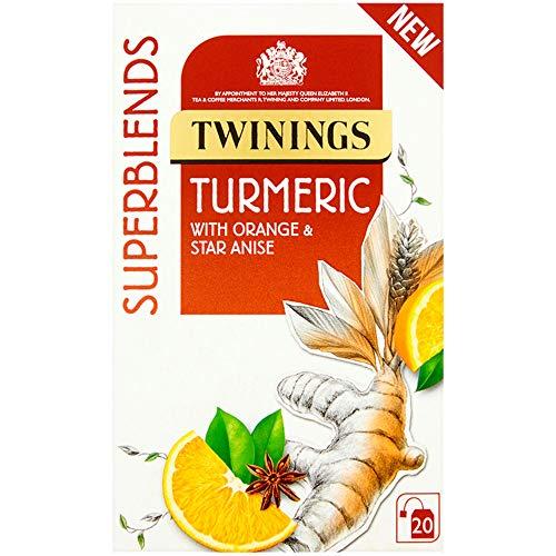 Twinings Superblends Turmeric Enveloped Tea Bags - 4x20