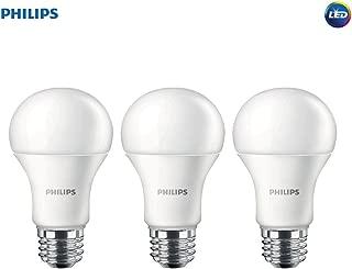 Philips LED Non-Dimmable A19 Frosted Light Bulb: 1500-Lumen, 2700-Kelvin, 14.5-Watt (100-Watt Equivalent), E26 Medium Screw Base, Soft White, 3-Pack