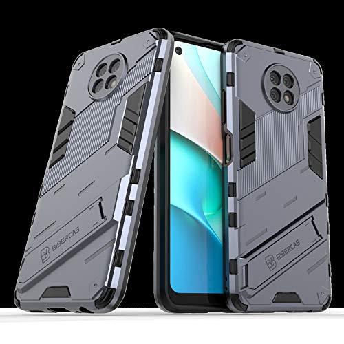 BAIYUNLONG Funda Protectora, para Punk Redmi Note9 Caja del teléfono del Soporte de Soporte de 5 g, Cubierta Posterior del Soporte ascitado, Cubierta de la Caja Protectora (Color : Grey)