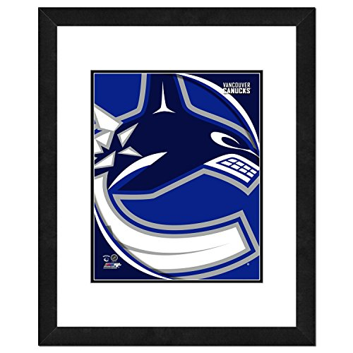 Vancouver Canucks NHL Double Matted 8x10 Photograph Team Logo and Hockey Puck