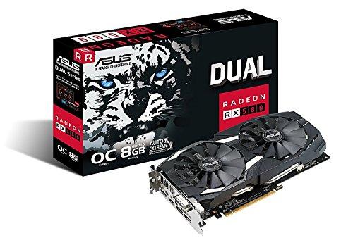 Placa De Video Rx 580 8gb Gddr5 Dual-rx580-o8g Asus 90yv0aq1-m0na00