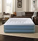 Simmons Beautyrest Lumbar Lux Express Adjustable Tri-Zone Support Air Bed Mattress with Built-in Quick Pump, 18', Queen