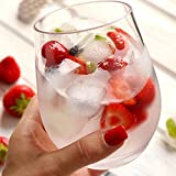 Vaso de agua de plástico irrompible PCTG para vino tinto, reutilizable, transparente, para zumo de frutas, 4 vasos de agua