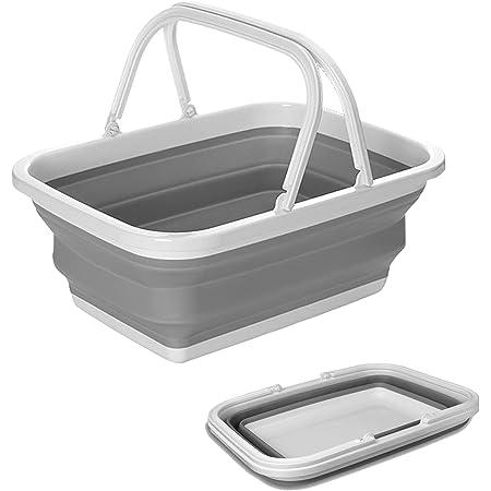 折りたたみバケツ 洗い桶 たらい 大容量10L 生活用品 掃除 洗濯 衣類・靴 つけ置き洗い キッチン アウトドア 取っ手付き 多機能 便利 四角 大型