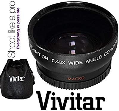 Hi-Def Wide Angle Lens with Macro for Canon Vixia HF R72 R700 R70 R600 R62 R60 by - Vivitar