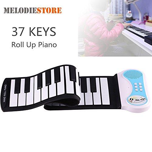 iBalody Professionelle 37 Tasten Silikon Flexible Hand Roll up Piano Weiche Tragbare Elektronische Tastatur Orgel Musik Geschenk für Kinder Student