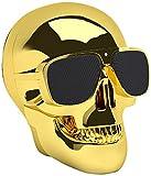 Jarre Technologies Aero Skull Nano - Altavoz portátil con Bluetooth, color dorado