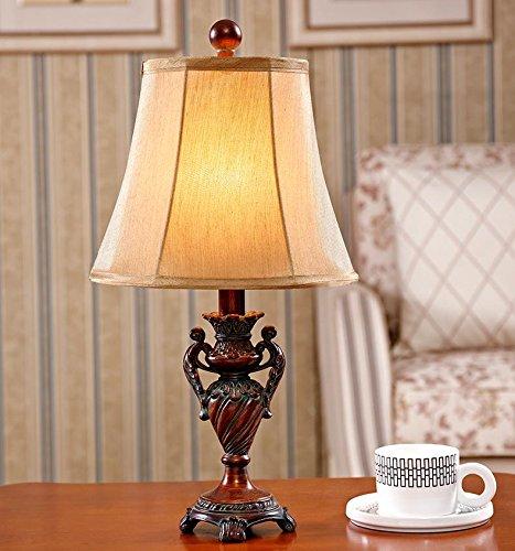 TAI Lampada da Tavolo, SEEKSUNG Comodino Camera Calda Luce Calda Villaggio Americano Semplice Retro Copertura luci LED dimmerabili