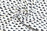 Stoffetraum Baumwollstoff by Poppy 'Wale' weiß 0,5m
