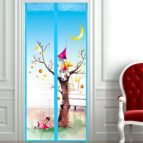 Magnetische klittenband voor thuis, magnetisch scherm, deur, ademend, stofdicht, insectengordijn, automatisch meshgordijn houdt insecten en muggen 100x210cm Fairy