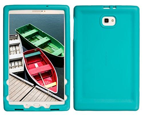 Custodia robusta BOBJ per Samsung Galaxy Tab A 10.1, SM-T580, SM-T585, (Non adatto ai modelli S-Pen) - BobjGear protezione Tablet caso (Turchese)