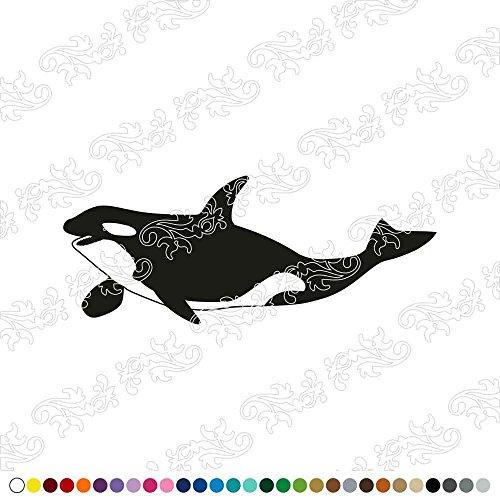 Dalinda® WANDTATTOO Orca WANDAUFKLEBER WANDSTICKER WALLPRINT (Größe 90 x 36 cm) NR216