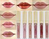 6 Colores Profesional Labial Mate Pintalabios Permanente de Maquillaje Larga Duracion para Niñas por ESAILQ A