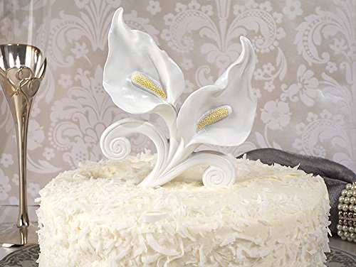 Classic Calla Lily Cake Topper Wedding Set