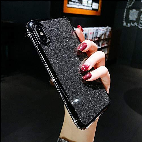 LIUYAWEI Rhinestone Glitter Phone Case For iphone 11 12 Pro X XR XS Max Soft Silicone Diamond Cover For iphone 6S 6 7 8 Plus Cases,BK,for iPhone 12 Pro