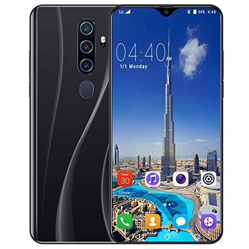 Smartphone Ohne Vertrag 4G - 6,7 Zoll HD, 4800mAh Akku, 24MP-Kamera Octa-Core 6GB RAM/128GB ROM, 128GB Erweiterbar Dual SIM Android Handy A82,Black