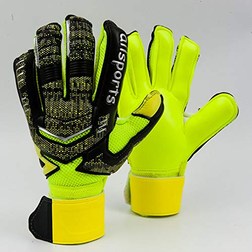 Torwarthandschuhe mit Fingerspitzen Fußballtorhüter Kinderhandschuhe für Erwachsene Fluoreszierendes Grün