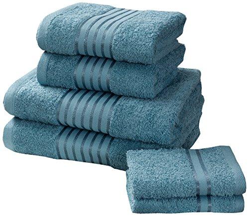 Rapport Windsor–Juego de Toallas (M2), 100% algodón–Turquesa