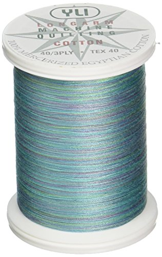 YLI 24450-V77 3-Ply 40wt T-40 Cotton Quilting Variegated Thread, 500 yd, Alaskan Twilight